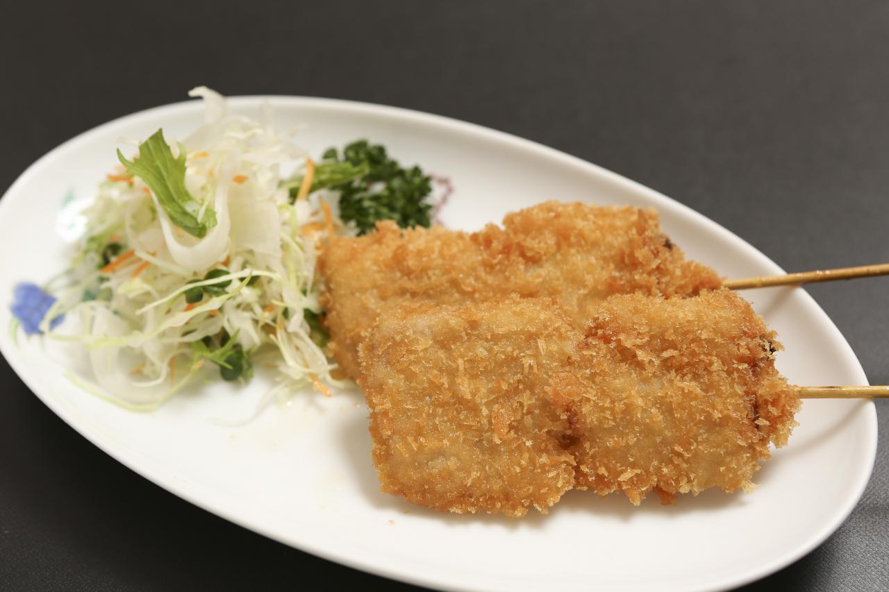 kushikatsu【fried pork skewer】