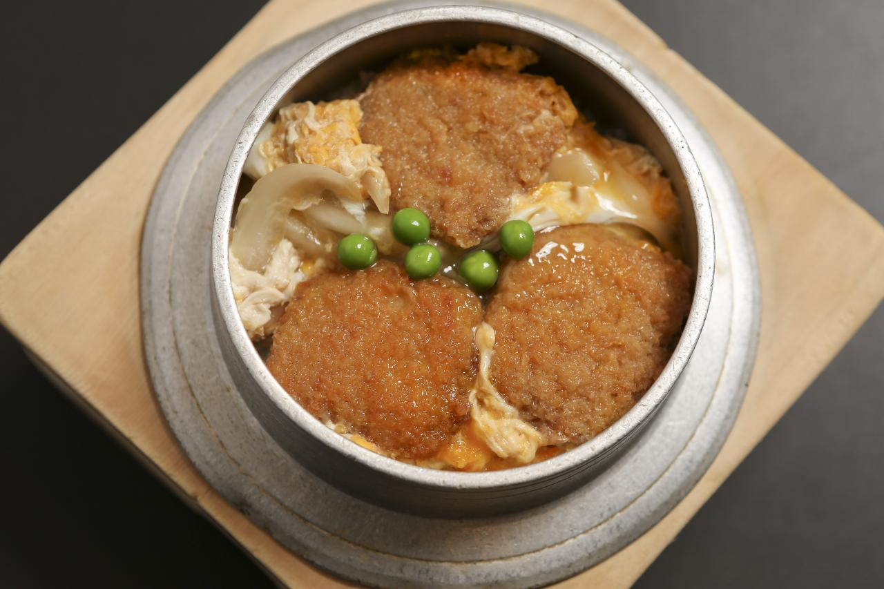 Katsu【fried pork with egg pourd over】